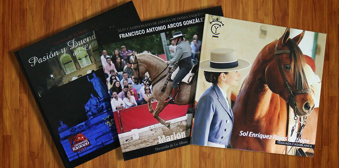 Libro book fotográfico caballos